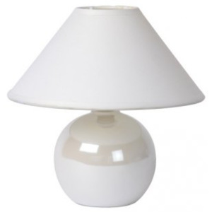 LUCIDE FARO Table lamp H21cm Pearl White, stolní lampa