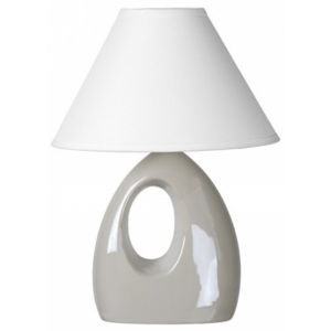LUCIDE HOAL Table lamp H28cm E14/40W Pearl White, stolní lampa