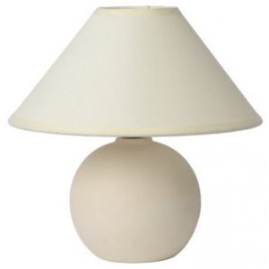 LUCIDE FARO Table lamp H21cm Brushed White, stolní lampa