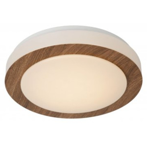 LUCIDE DIMY Ceiling Lamp LED Dimmable 12W D28cm, Dark Wood, stropní svítidlo
