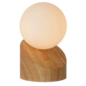 LUCIDE LEN Table Lamp G9 Light Wood, stolní lampa