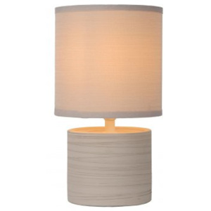 LUCIDE GREASBY Table Lamp E14 H26cm Cream, stolní lampa