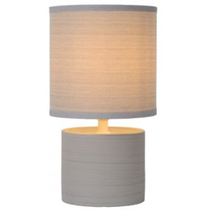 LUCIDE GREASBY Table Lamp E14 H26cm Grey, stolní lampa