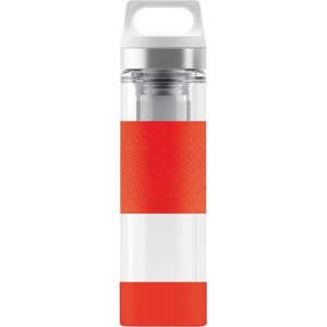 8555.90 SIGG HOT&COLD GLASS WMB RED termoska 0,4 l