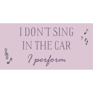 Magnetka I don't sing in the car I perform (kód PODZIM2018 na -20 %)