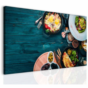 Obraz low carb sugar free kitchen (100x60 cm) - InSmile ®