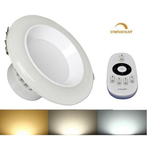 LED21 LED panel DOWNLIGHT 12W CCT stmívatelný 120mm 750lm 230V CCD IP50