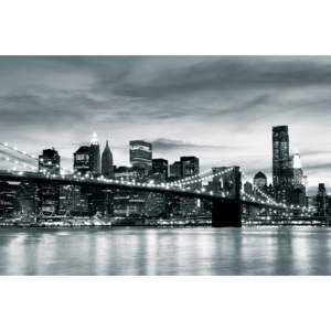 Fototapeta: Brooklyn Bridge (černobílý) - 104x152,5 cm