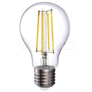 V-TAC LED Filament E27 A70 Amber Cover 4000K