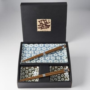 Made In Japan Sushi set Navy & White