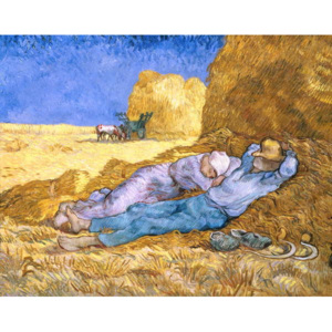 Vincent van Gogh - Obraz, Reprodukce - Noon, or The Siesta, after Millet, 1890