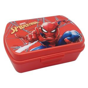 EUROSWAN Box na svačinu Spiderman red Plast, 16x12x5 cm