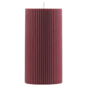 Normann Copenhagen Svíčka Grooved Block Candle, dark red
