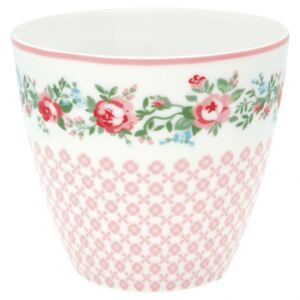 Porcelánový Latte cup Gabby White 350 ml