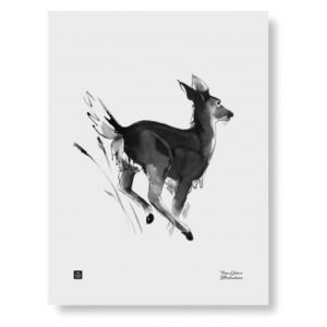 Plakát White-tailed Deer 30x40 cm Teemu Järvi Illustrations