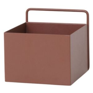 Ferm Living Nástěnný box Wall Box Square, red brown
