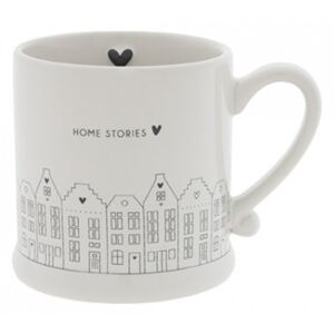 Hrnek HOME STORIES, černá, 200 ml Bastion Collections RJ-MUG-011-BL