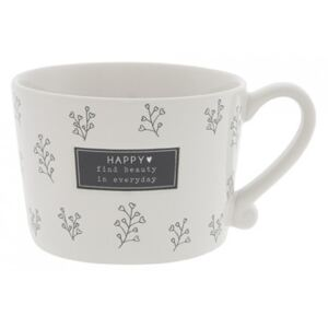Hrnek HAPPY EVERYDAY, černá, 270 ml Bastion Collections RJ-CUP-050-BL