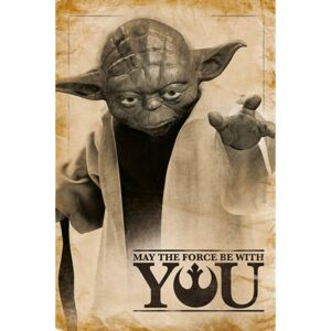 Plakát Star Wars - Yoda - May The Force Be With You