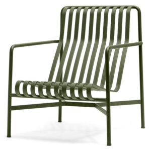 HAY Židle Palissade Lounge Chair High, olive