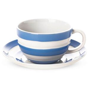 Šálek s podšálkem Blue Stripes 340ml - Cornishware