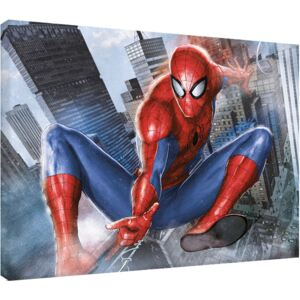 Obraz na plátně Spider-Man - In Action, (80 x 60 cm)