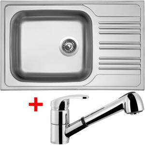 Set Sinks STAR 780 XXL V matný + baterie LEGENDA S