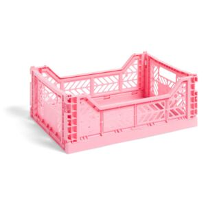 HAY Úložný box Crate M, light pink