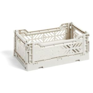 HAY Úložný box Crate S, light grey
