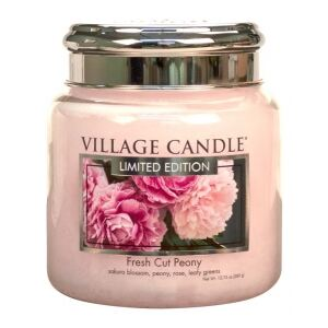 Village Candle Vonná svíčka ve skle 16Oz - Pivoňky - Limited Fresh Cut Peony