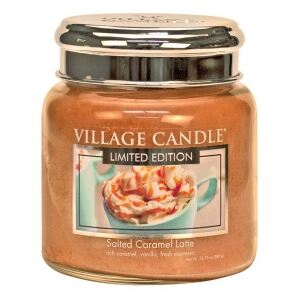 Village Candle Vonná svíčka ve skle 11OZ - Salted Caramel Latte