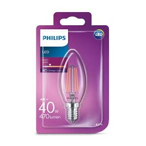 Philips LED Classic 4W / 40W E14 WW B35 CL ND mini svíčka