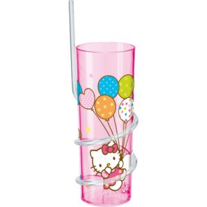Sklenice s brčkem Hello Kitty Cutie Pie 325 ml DISNEY