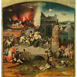 Hieronymus Bosch - Obraz, Reprodukce - Central Panel of the Triptych of the Temptation of St. Anthony (oil on panel)