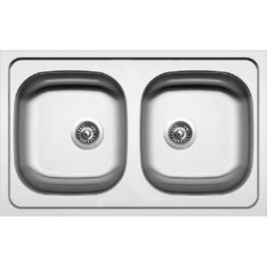 Sinks CLASSIC 790 DUO V 0,6mm matný