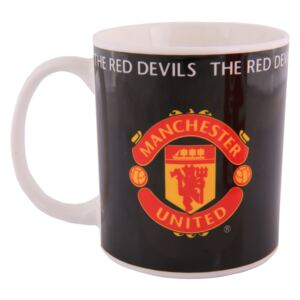 Hrnek Manchester United Support United Black 350 ml