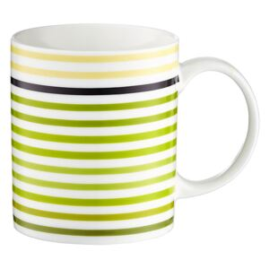 Porcelánový hrnek Juicy White & Green Stripes 350 ml DOMOTTI