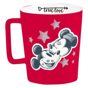Porcelánový hrnek s křídou Mickey & Minnie Kiss 320 ml DISNEY