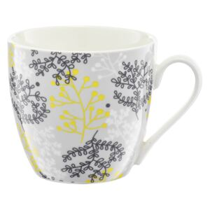 Porcelánový hrnek Nordic Yellow / Grey Twigs 510 ml AMBITION