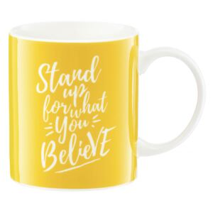 Porcelánový hrnek Nordic Stand Up For What You Believe 350 ml AMBITION