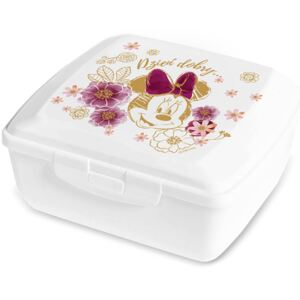Svačinový box Minnie Flowers White 14,5 x 13 cm PL NÁPISY DISNEY