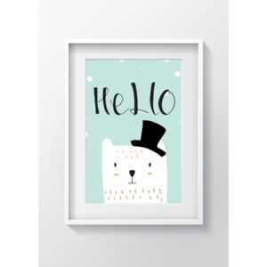 Obraz Tablo Center Hello Cat, 24 x 29 cm