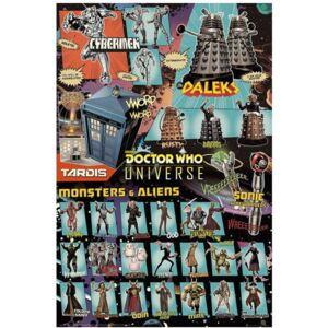 Plakát The Doctor Who: Characters (61 x 91,5 cm)