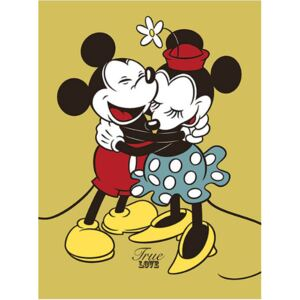 Obraz na plátně Mickey & Minnie Mouse: True Love (30 x 40 cm)