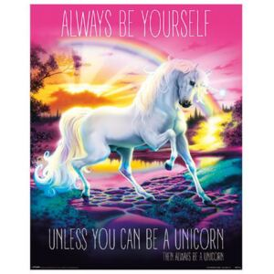 Plakát Unicorn: Always Be Yourself (40 x 50 cm)