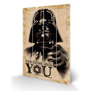 Obraz Star Wars: Your Empire Needs You malba na dřevě (40 cm x 59 cm)