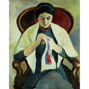 Obraz, Reprodukce - Woman Sewing, August Macke