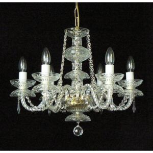 6 Arms crystal chandelier with crystal almonds
