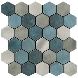 Mozaika Cir Materia Prima mix blue hexagon 27x27 cm lesk 10699191