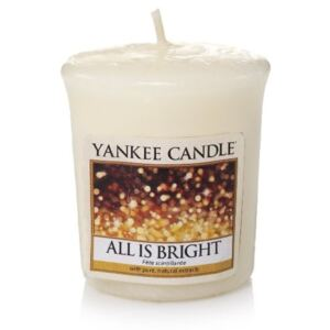VONNÁ SVÍČKA YANKEE CANDLE ALL IS BRIGHT VOTIVNÍ